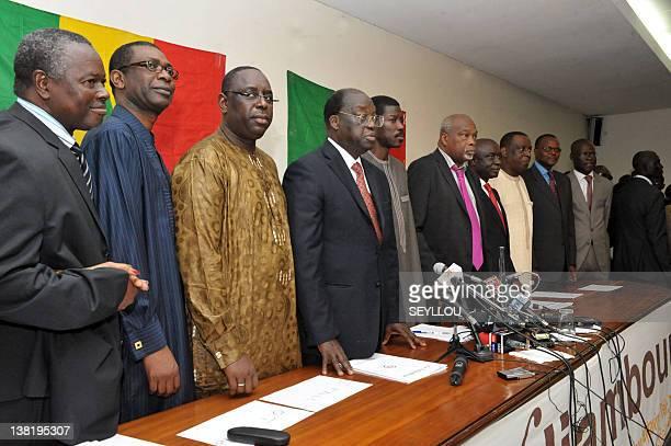 Eight members of the Senegalese opposition Alioune Tine Youssou N'Dour Macky Sall Moustapha Niasse Talla Sylla Amath Danssoko Idrissa Secke Cheikh...