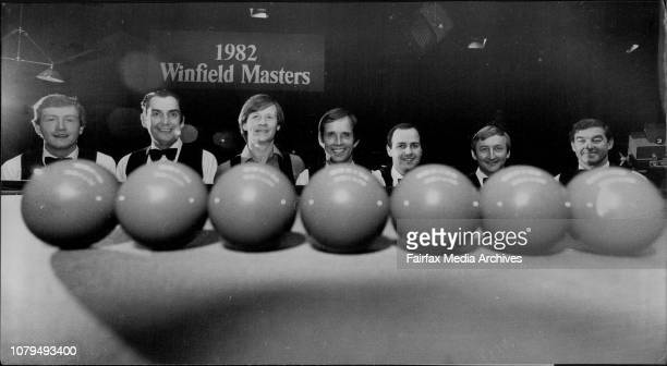 Eight of the World's best Snooker player will contest this years winfield Masters TV Series to be recorded by Network 10 Sports from the 7th to...