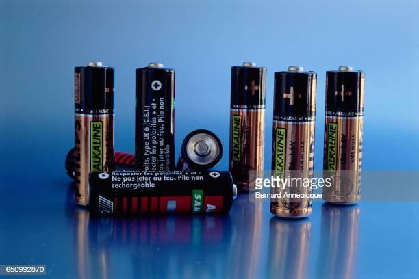 Eight Philips AA alkaline batteries