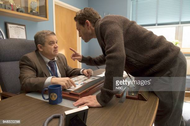 AP BIO 'Eight Pigs and a Rat' Episode 111 Pictured Patton Oswalt as Principal Durbin Glenn Howerton as Jack Griffin