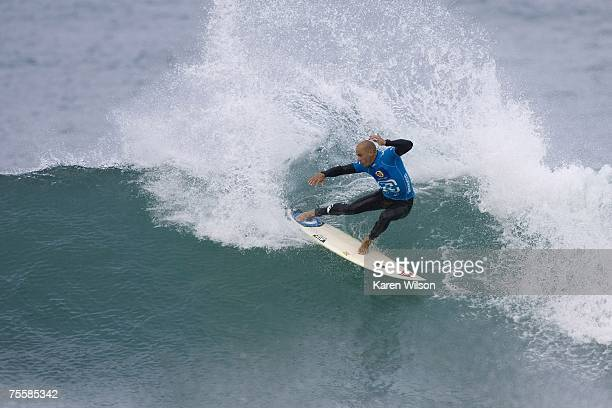 Eight times ASP world champion and former Billabong Pro champion Kelly Slater of Cocoa Beach Florida competes on his way to finishing as runner up at...