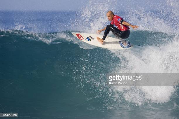 Eight times ASP world champion Kelly Slater of USA beat rookie Luke Munro of Ausralia in their first even match up in Round 3 of the Billabong Pro on...