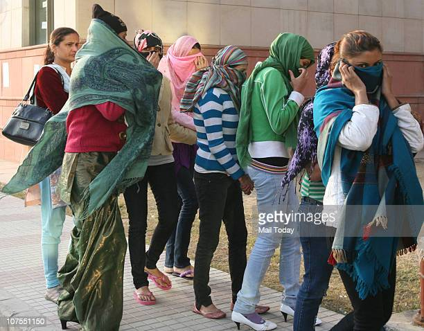Eight Women and two men arrested at IGI airport by Delhi Police for illegal Human Trafficking