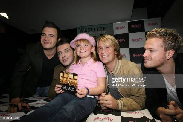 Eight year old Lauren Dennis from Walkinstown Dublin was the first fan to meet pop group Westlife as they promoted their new album Face to Face in...
