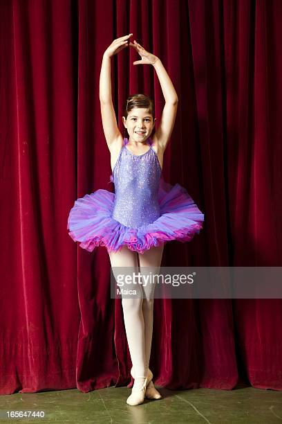 eight yers old ballet dancer - little girls in tights stock photos and pictures