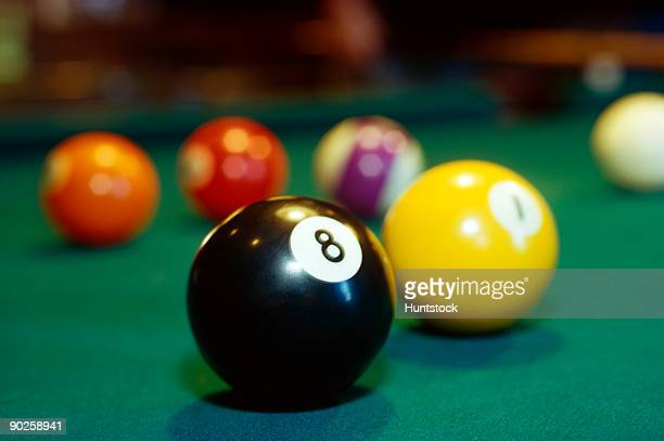 Eight-ball, billiard balls