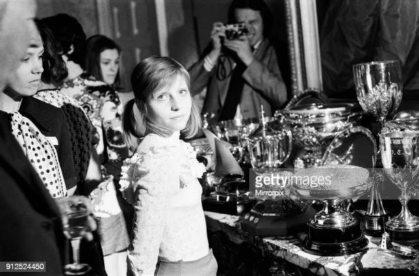 Eighteen year old Olga Korbut the Soviet gymnast at Downing Street where she was invited to meet the Prime Minister Edward Heath 7th May 1973