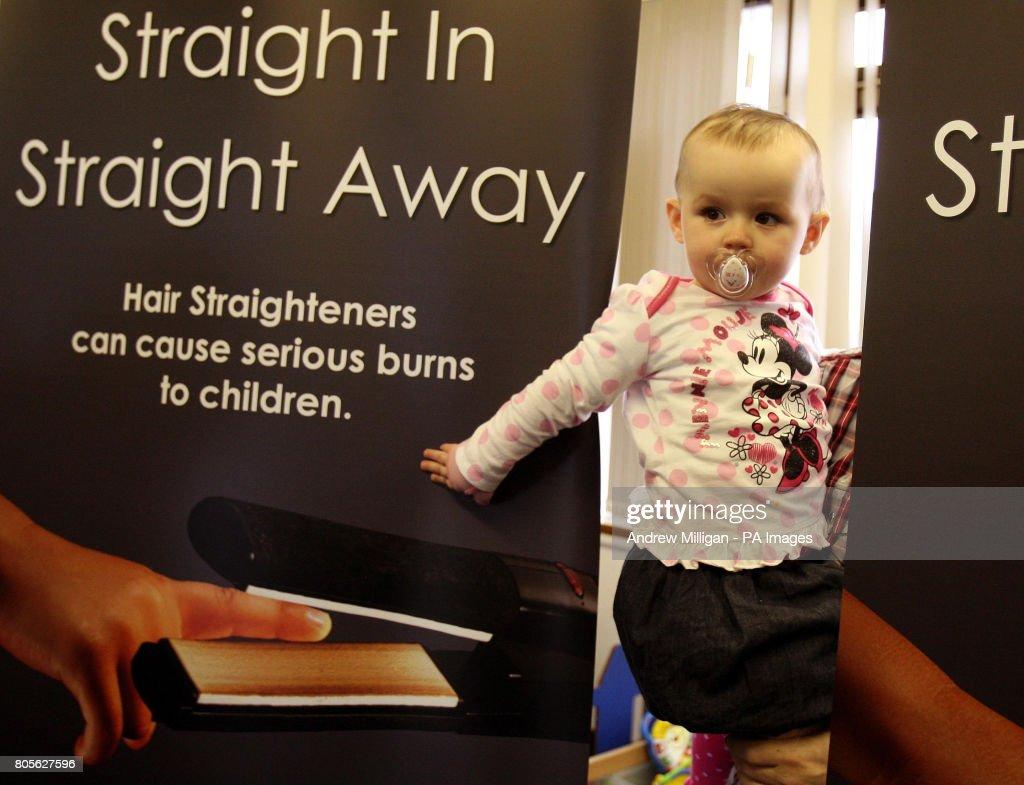 Warning over dangers of hair straighteners to children : News Photo