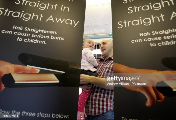 Eighteenmonthold Kayla Murray with her dad Paul McGee at Glasgow's Royal Hospital for Sick Children as he and Kayla's mother Michelle Murray are...