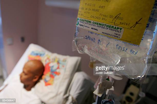 Eighteenyearold cancer patient Patrick McGill lies in his hospital bed while receiving IV chemotherapy treatment for a rare form of cancer at the...