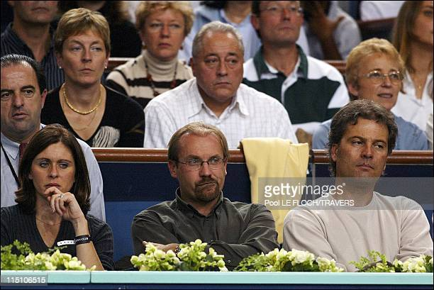 Eighth finals at the BNP Paribas tennis masters in Paris, France on November 01, 2002 - Laurent Fignon.