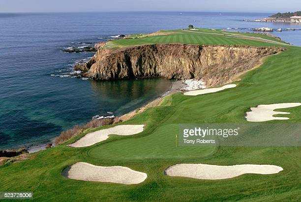 eighth hole at pebble beach - pebble beach california stock pictures, royalty-free photos & images
