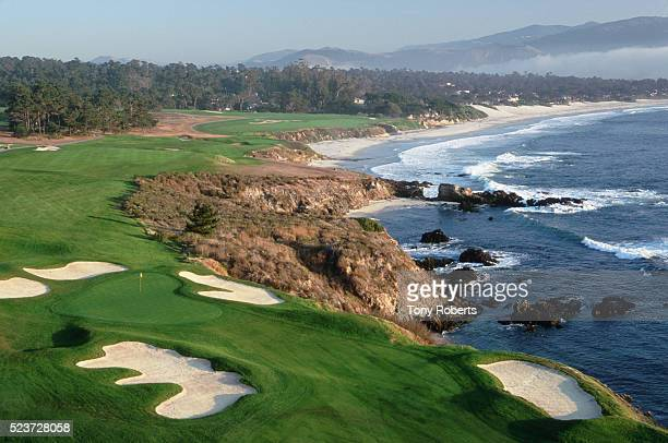 Eighth, Ninth, and 10th Holes at Pebble Beach