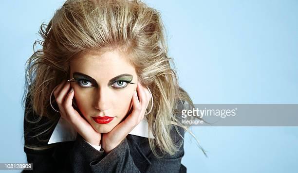 Eighties style woman