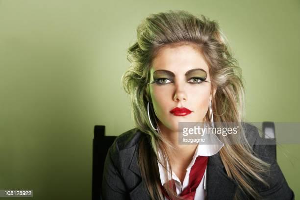 Eighties style woman portrait