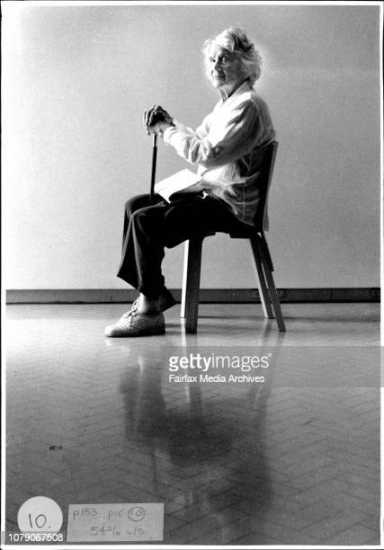 Eighty four year old Elizabeth Riddell renowned Sydney poet and journalist of note at the museum of contemporary art today February 13 1994