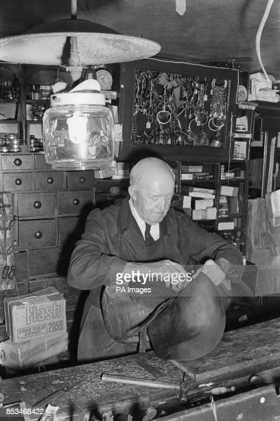 Eightyyearold craftsman Edward Seymour still makes saddles and harnesses in his 300yearold gaslit shop beside the Old Bath Road at Twyford Berkshire...