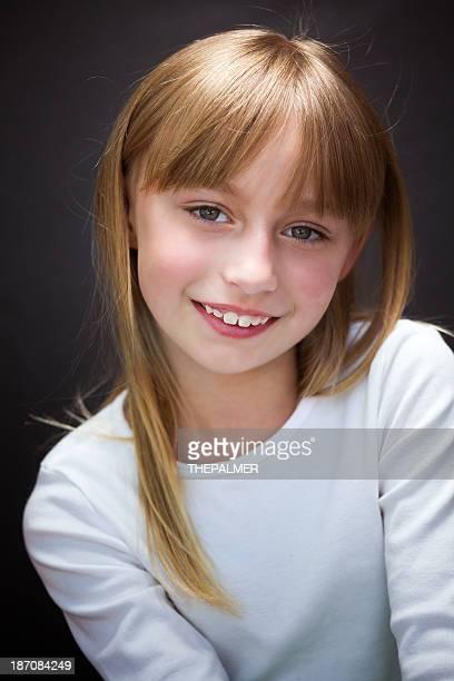 Achten Jahre altes Mädchen, Porträt