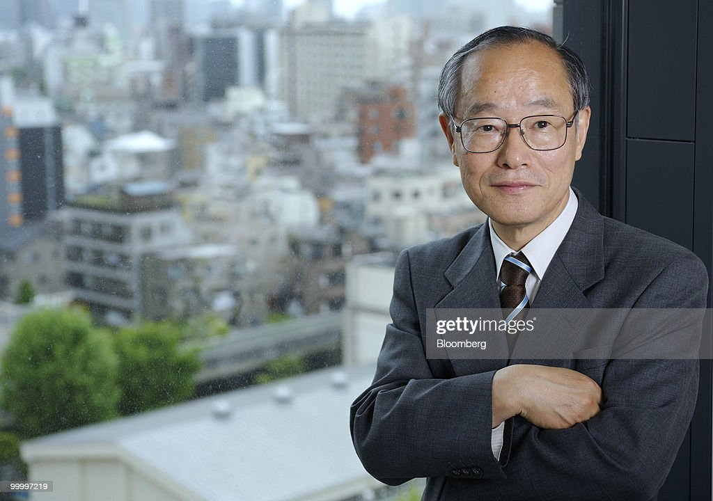 Eiji Hosoya, chairman of Resona Holdings Inc., poses for a photograph following an interview in Tokyo, Japan, on Wednesday, May 19, 2010. Resona Holdings Inc., Japan's fourth-largest bank, said it wants the government to sell part of 1.67 trillion yen ($18 billion) in preference shares it holds by November. Photographer: Akio Kon/Bloomberg via Getty Images