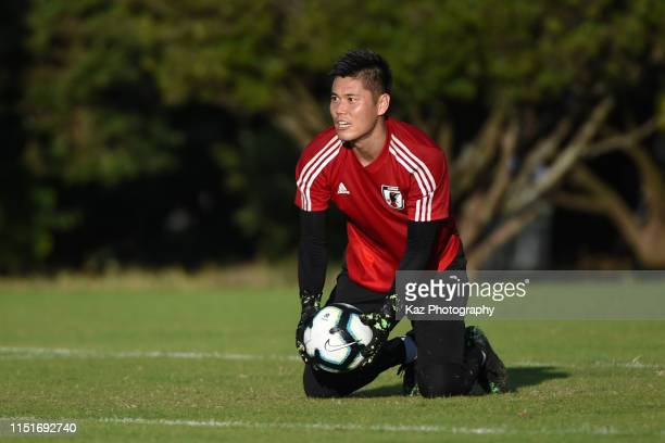 Eiji Kawashima of Japan in action during the training session on June 22 2019 in Belo Horizonte Brazil