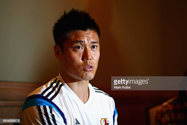Eiji Kawashima of Japan speaks to the press during a media session at the Hyatt Regency Clearwater Beach Resort and Spa on May 30 2014 in Clearwater...