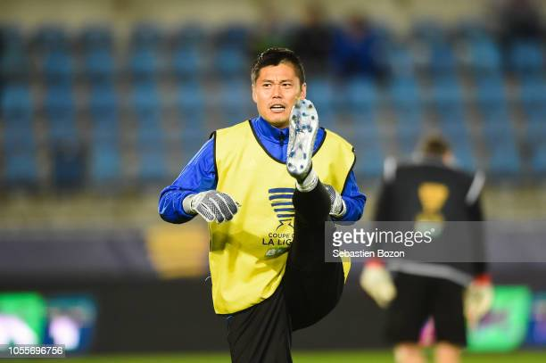 Eiji Kawashima of Strasbourg during the League Cup match between Strasbourg and Lille at La Meinau Stadium on October 30 2018 in Strasbourg France