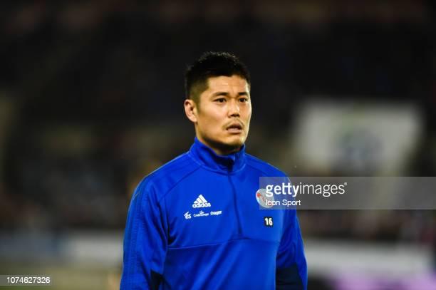 Eiji Kawashima of Strasbourg during the Ligue 1 match between Strasbourg and Nice at La Meinau Stadium on December 22 2018 in Strasbourg France