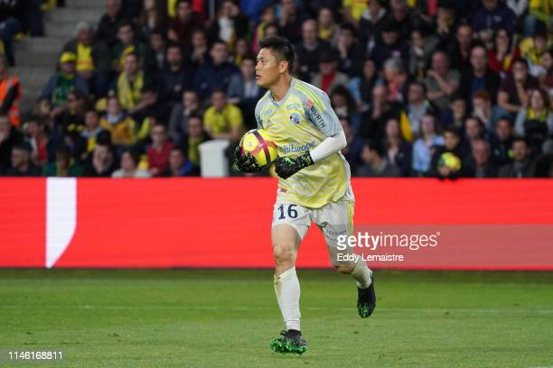 Eiji Kawashima of Strasbourg during the Ligue 1 match between Nantes and Strasbourg on May 24 2019 in Nantes France
