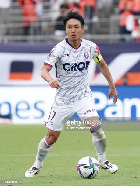 Eiji Shirai of Fagiano Okayama in action during the J.League Meiji Yasuda J2 match between Omiya Ardija and Fagiano Okayama at the NACK5 Stadium...