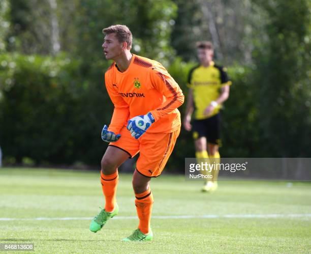 Eike Bansen of Borussia Dortmund during UEFA Youth Cup match between Tottenham Hotspur Under 19s against Borussia Dortmund Under 19s at Hotspur Way...