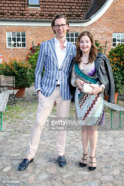Eike Knueppel and Vicky Leandros during the BMW Polo Cup Gut Basthorst on June 15 2018 in Basthorst Germany