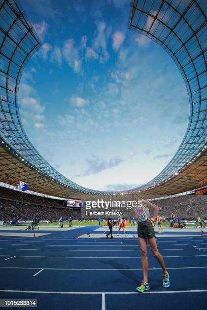 Eike Onnen of Germany competes in the men's high jump event on August 11 2018 in Berlin Germany