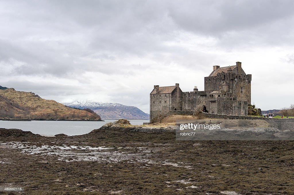 Eilean Donan Castle on a winter day : Stock Photo