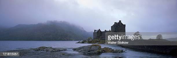 Eilean Donan Castle w/ fog, Highland, Scotland