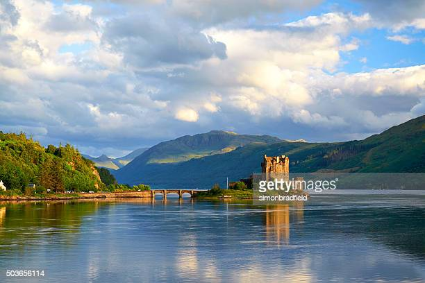 eilean donan in scotland - scotland stock pictures, royalty-free photos & images