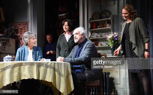 Eileen Atkins James Hillier Amanda Drew Jonathan Pryce and Anna Madeley pose at a photocall for 'The Height Of The Storm' at Wyndhams Theatre on...