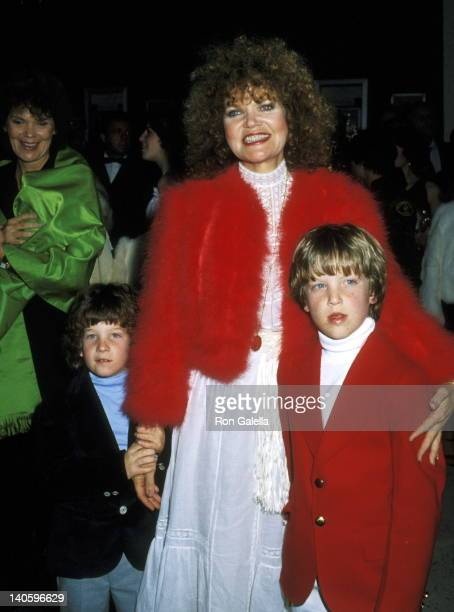 Eileen Brennan and sons Samuel Lampson and Patrick Lampson at the 53rd Annual Academy Awards, Dorothy Chandler Pavilion, Los Angeles.