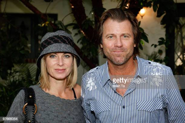 Eileen Davidson and Vince Van Patten attend Renee Taylor And Joe Bologna Host Celebrity Fundraiser Lunch And Auction on January 30 2010 in Beverly...
