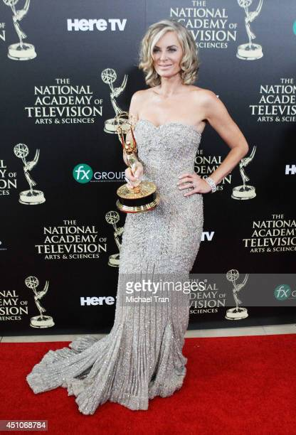 Eileen Davidson attends the 41st Annual Daytime Emmy Awards - press room held at The Beverly Hilton Hotel on June 22, 2014 in Beverly Hills,...