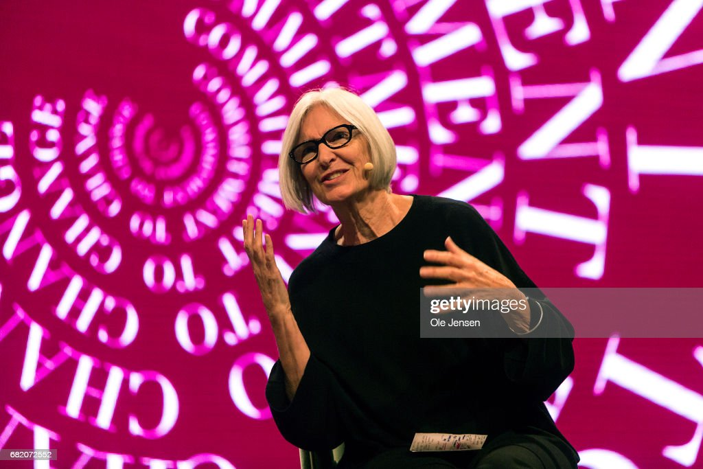 Eileen Fisher, founderof Eileen FisherInc speaks on stage about how to rethink and redefine the fashion system to meet the need for sustainability at Copenhagen Fashion Summit on May 11, 2017 in Copenhagen, Denmark. The 2017 Summit addressed four specific paths to sustainability: the macro perspective, circular design, supply chain transparency and sustainable consumption. All four paths pertained to topics that are of particular opportunity, as uncovered in the 'Pulse of the Fashion Industry' report, jointly researched and produced by the Global Fashion Agenda and the Boston Consulting Group and presented at the Summit, which had some 1000 participants from the global fashion industry. Also Danish Crown Princess Mary attended the Summit.