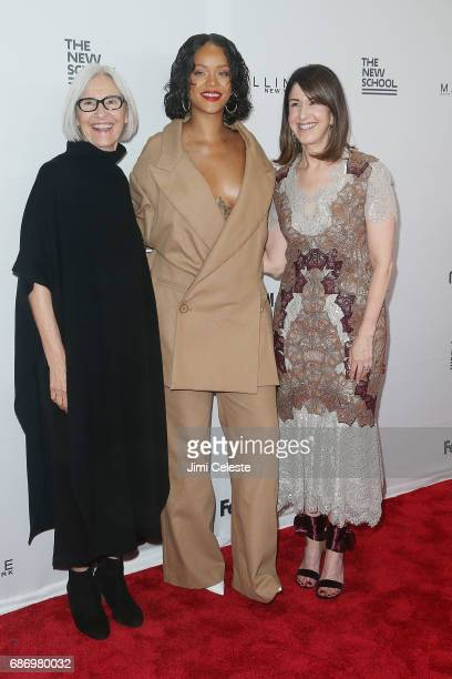 Eileen Fisher Rihanna and Karen Katz attends the 69th annual Parsons benefit at Pier Sixty at Chelsea Piers on May 22 2017 in New York City