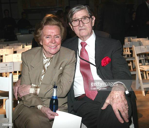 Eileen Ford with husband Jerry Ford attend the Ford Models' Super Model of the World contest at the New York Public Library January 20 2004 in New...