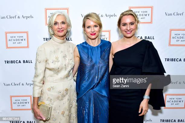 Eileen Guggenheim Naomi Watts and Isabel Wilkinson attend the New York Academy of Art Tribeca Ball Honoring Will Cotton at New York Academy of Art on...