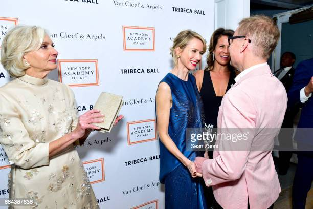 Eileen Guggenheim Naomi Watts Isabel Wilkinson and Will Cotton attend the New York Academy of Art Tribeca Ball Honoring Will Cotton at New York...