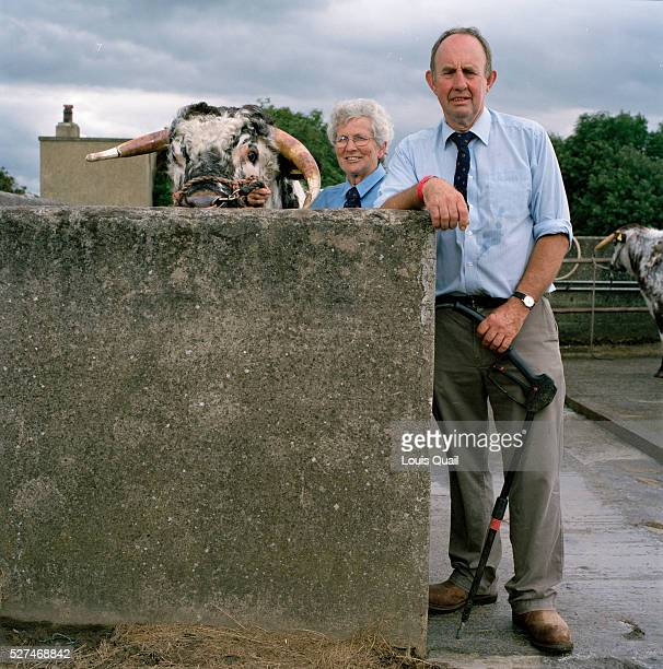 Eileen Hallifield and her husband Richard own Dunstall Hector a twoyearold Longhorn bull He has had conditioner added to the last lot of water to...