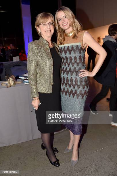 Eileen Huntington and Anne Huntington attend the 2017 ARTWALK NY Benefiting Coalition for the Homeless at Spring Studios on November 29 2017 in New...