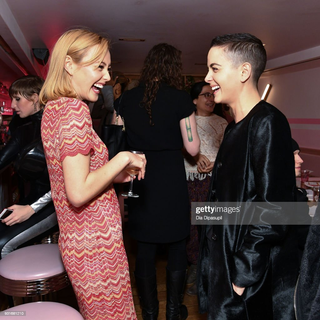 Eileen Kelly (L) and Bethany Meyers attend the Trans Awareness Dinner at Pietro Nolita on March 13, 2018 in New York City.