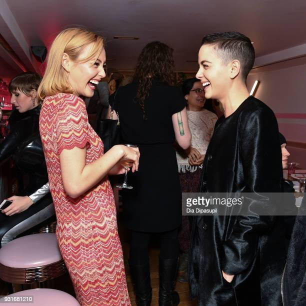 Eileen Kelly and Bethany Meyers attend the Trans Awareness Dinner at Pietro Nolita on March 13 2018 in New York City