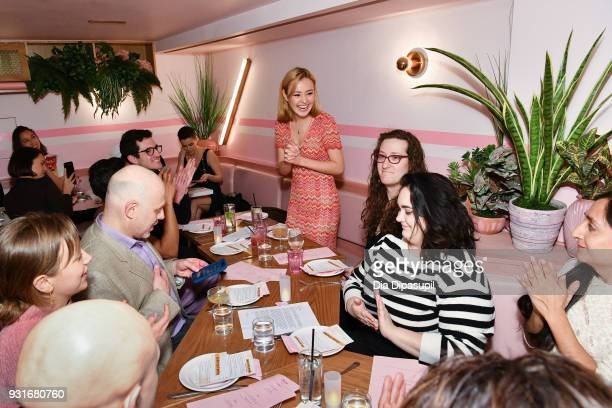 Eileen Kelly speaks during the Trans Awareness Dinner at Pietro Nolita on March 13 2018 in New York City