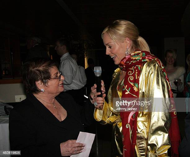 Eileen Mitzman and Sharon Stone during Basic Instinct 2 CPFA After Film Auction/Surprise Birthday Dinner for Sharon Stone at Freds at Barney's in New...